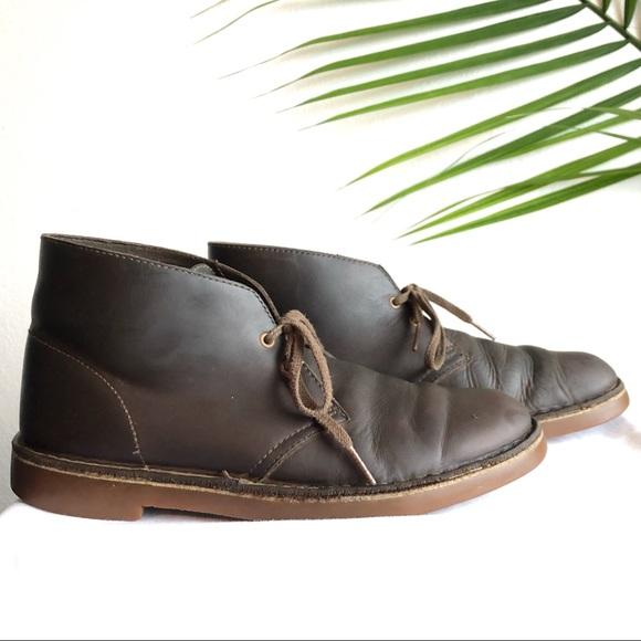 Clarks Shoes Dark Brown Chukka Boots Mens 75 Poshmark